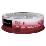 SONY 25CDQ80SP 700MB/80min 48x CD-R Spindle 2