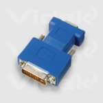 Videk DVI M to HDD DB15F Analogue Monitor Adaptor HDD DB15 Blue