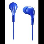 Pioneer SE-CL502-L In-ear Binaural Wired Blue mobile headset
