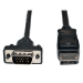 Tripp Lite DisplayPort to VGA Cable, Displayport with Latches to HD-15 Adapter (M/M), 6-ft.