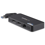 StarTech.com USB to Dual DisplayPort Mini Dock with GbE LAN - Dual 4K 60 Hz