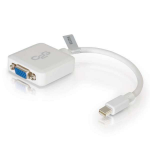 C2G 20cm Mini DisplayPort to VGA Adapter - Thunderbolt to VGA Converter M/F - White