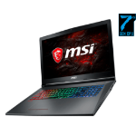 "MSI Gaming GF72VR 7RF-650 2.8GHz i7-7700HQ 17.3"" 1920 x 1080pixels Black Netbook"