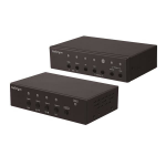 StarTech.com Multi-Input HDBaseT Extender Kit with Built-In Switch and Video Scaler
