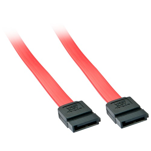 Lindy 33324 SATA cable 0.5 m Black, Red