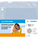 HERMA CD/DVD pockets, 145x135 mm 5 pockets