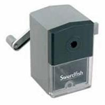 Swordfish 40100 Manual pencil sharpener Black,Grey pencil sharpener