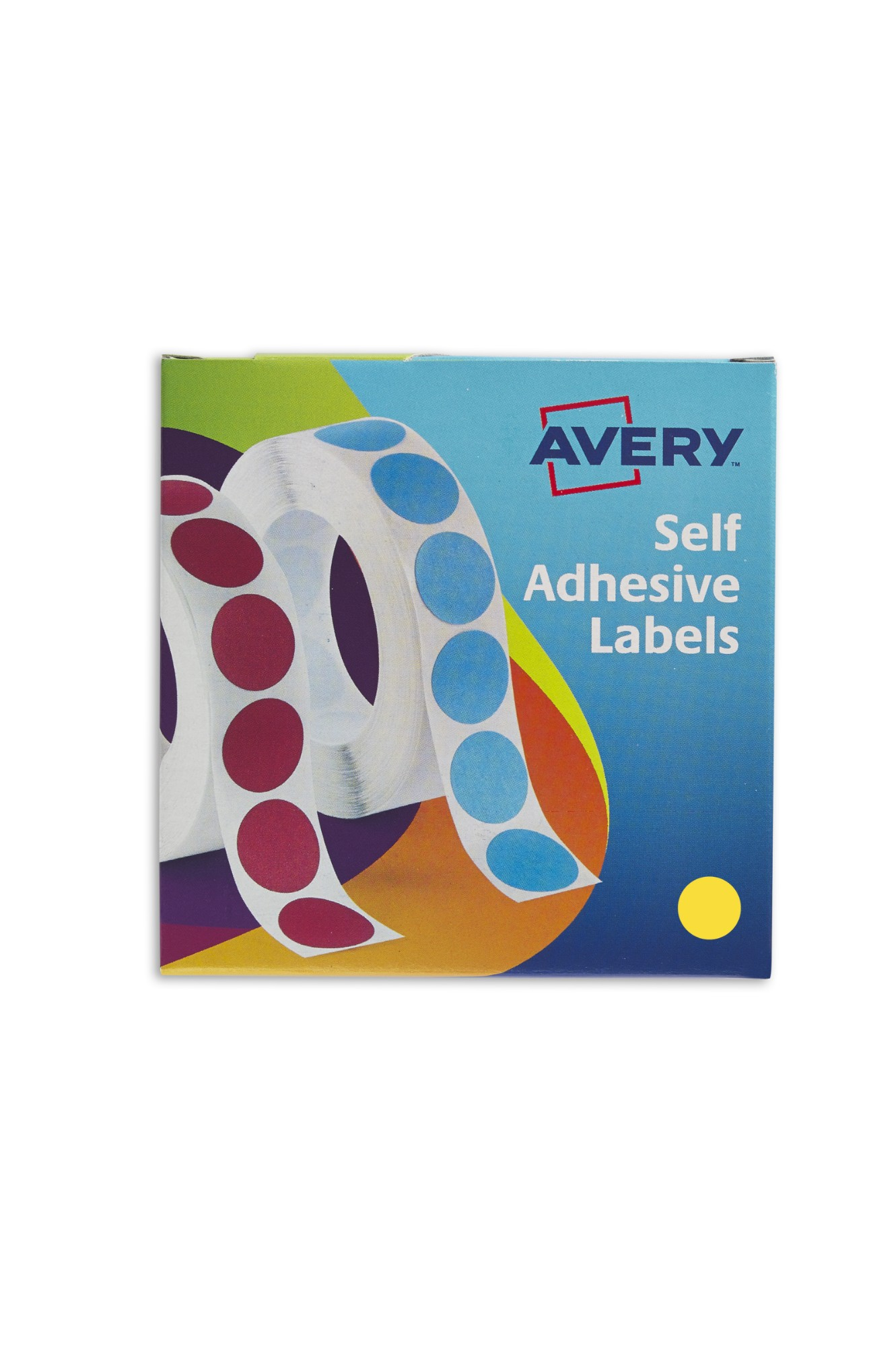 Avery Labels in Disp Round 19mm DIA Ylw 24-508 (1120 Labels)