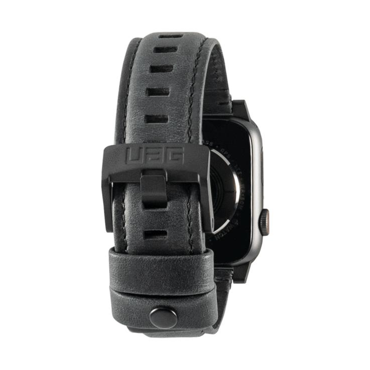 Urban Armor Gear 19148B114040 accesorio de relojes inteligentes Grupo de rock Negro Cuero, Acero inoxidable