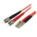 StarTech.com Fiber Optic Cable - Multimode Duplex 50/125 - LSZH - LC/ST - 2 m