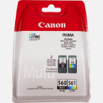 Canon PG-560 / CL-561 Original Negro, Cian, Magenta, Amarillo 2 pieza(s)