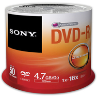 DVD-r Media 16x Spindle 50pcs