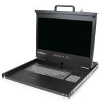 "StarTech.com 1U Rackmount LCD console met 2 poorts USB Hub 17"" monitor 1080p"