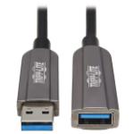 "Tripp Lite U330F-10M-G1 USB cable 393.7"" (10 m) USB 3.2 Gen 1 (3.1 Gen 1) USB A Black, Gray"
