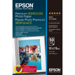 Epson Premium Semi-Gloss Photo Paper - 10x15cm - 50 Sheets