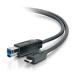 C2G USB 3.0, C - Standard B, 3m cable USB USB 3.2 Gen 1 (3.1 Gen 1) USB C USB B Negro