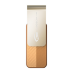 Team Group C143 USB flash drive 128 GB USB Type-A 3.2 Gen 1 (3.1 Gen 1) Brown, Gold