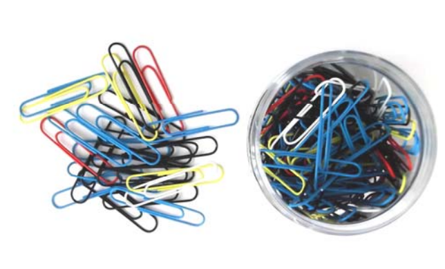 Whitecroft Essentials Value 51mm Giant Paperclips Assorted Colour PK125