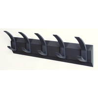 ACORN Hat and Coat Wall Rack with Concealed Fixings 5 Hooks Graphite