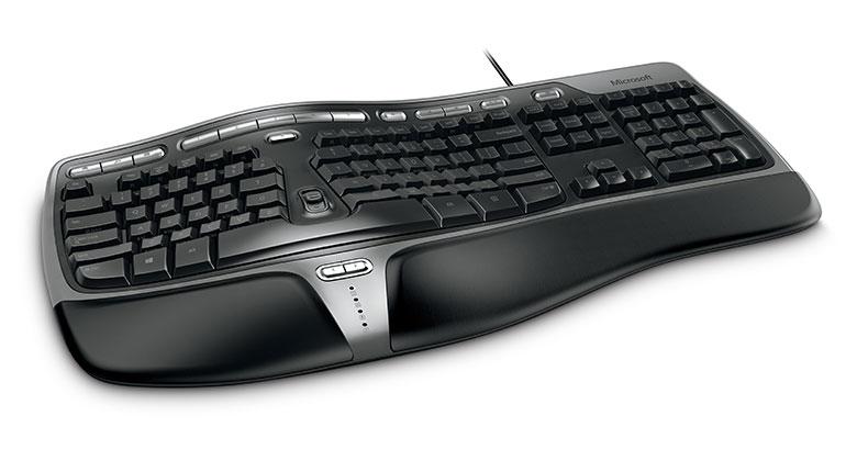 Microsoft B2M-00002 toetsenbord USB AZERTY Frans Zwart, Zilver