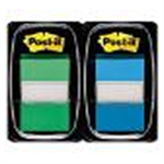 Post-It 1INCH INDEX DUAL PACK GREEN BLUE