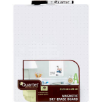 New Quartet QT79552 Whiteboard Magnetic Tile White Grid 216 x 280mm