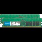 Crucial 32GB (2 x 16GB) DDR4-2666 RDIMM memory module 2666 MHz ECC