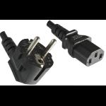 Microconnect PE010418LSZH power cable Black 1.8 m CEE7/7 C13 coupler