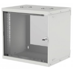 "Intellinet 19"" Basic Wallmount Cabinet, 9U, 400mm Deep, IP20-Rated Housing, Max 50kg, Flatpack, Grey"