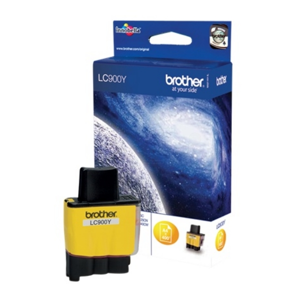 Brother LC-900Y Ink cartridge yellow, 400 pages @ 5% coverage, 10ml