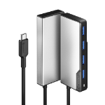 ALOGIC UCFUUA-SGR interface hub USB 3.2 Gen 1 (3.1 Gen 1) Type-C 5000 Mbit/s Black, Silver