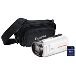 JVC GZ-R435 White Quad Proof Camcorder Kit inc 32GB SD Card and Case