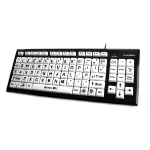 Accuratus KYB-MON2BLK-UCUH USB QWERTY English Black,White keyboard