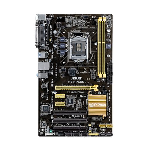 ASUS H81-PLUS Intel H81 Socket H3 (LGA 1150) ATX motherboard