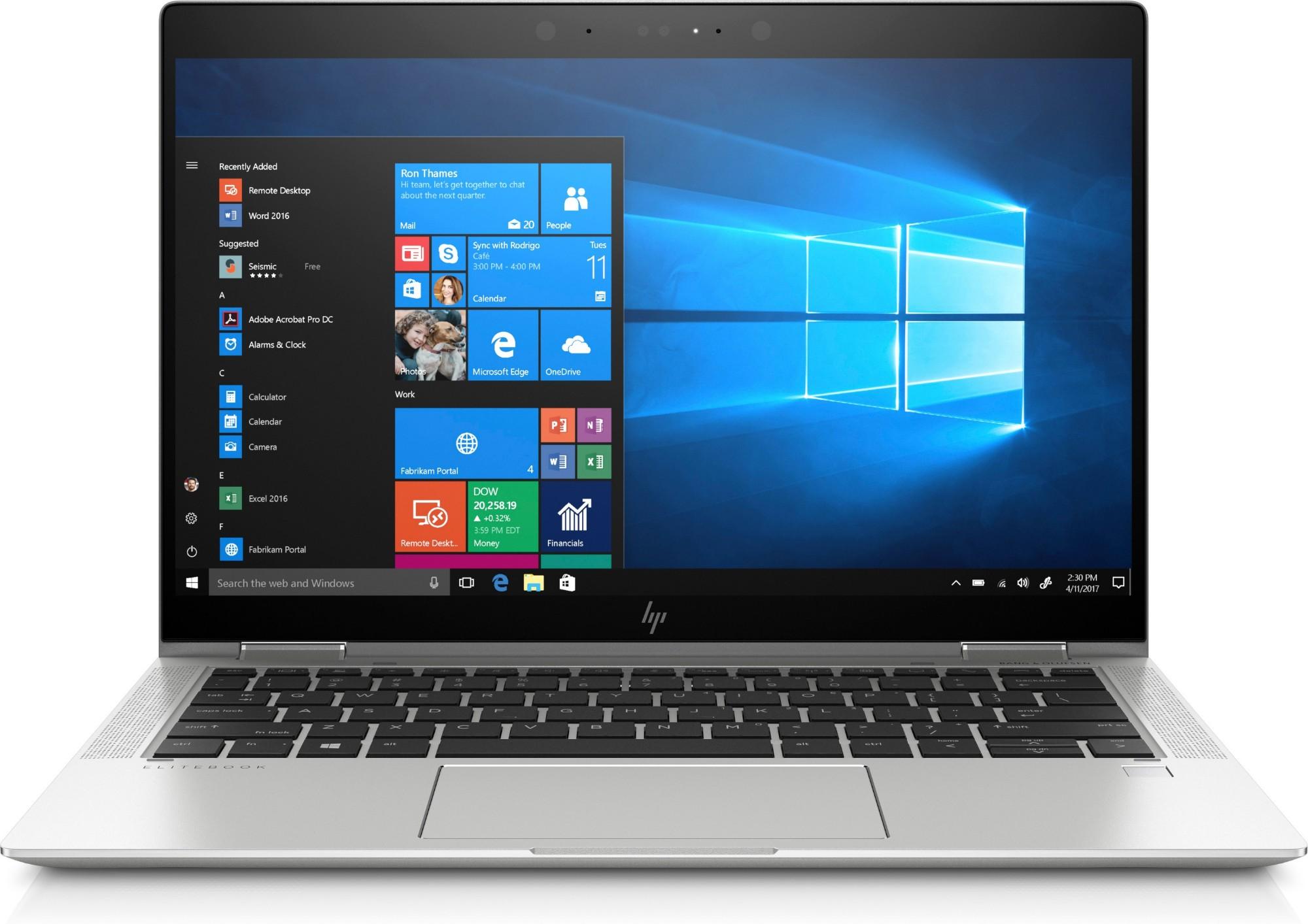 HP EliteBook x360 1030 G3 Silver Hybrid (2-in-1) 33.8 cm (13.3