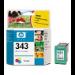 HP 343 Tri-colour Inkjet Print Cartridge with Vivera Inks