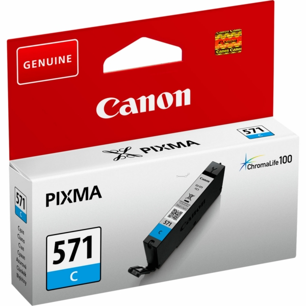 Canon 0386C001 (571 C) Ink cartridge cyan, 345 pages, 7ml