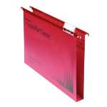Rexel Crystalfile Classic Foolscap Suspension File 30mm Red (50)