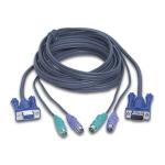 "iogear G2L5003P KVM cable Grey 118.1"" (3 m)"