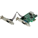 StarTech.com 2-poort Low Profile Native RS232 PCI Express Seriële Kaart met 16550 UART