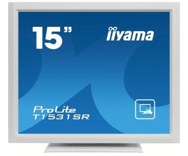 "iiyama ProLite T1531SR-W3 15"" 1024 x 768pixels Multi-touch Tabletop White touch screen monitor"