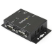 StarTech.com 2 Port Industrial Wall Mountable USB to Serial Adapter Hub with DIN Rail Clips