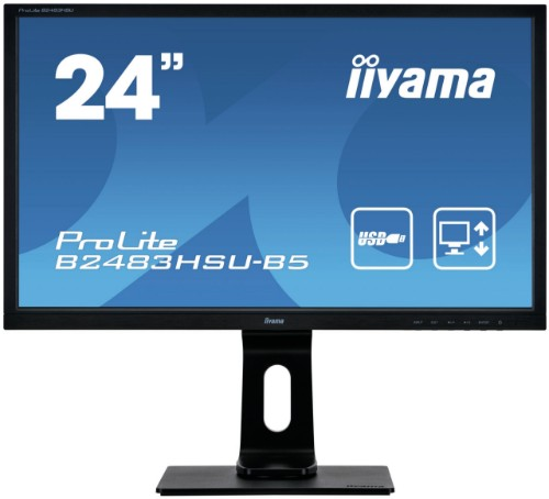 "iiyama ProLite B2483HSU-B5 computer monitor 61 cm (24"") 1920 x 1080 pixels Full HD LED Black"