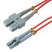 MCL 1m SC/LC cable de fibra optica OM2 Rojo