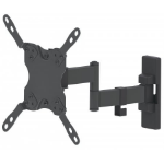 "Manhattan TV & Monitor Mount, Wall, Full Motion, 1 screen, Screen Sizes: 13-42"", Black, VESA 75x75 to 200x200, Max 20kg, Tilt & Swivel with 3 Pivots, Lifetime Warranty"