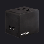 Veho VAA-200-TA1 mobile device charger Black Outdoor