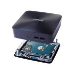 ASUS VivoMini UN65U-7I3M032M 2.4GHz i3-7100U 0.88L sized PC Blue PC/workstation barebone