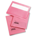 Rexel Jiffex Foolscap Transfer File With Pocket Pink (25)