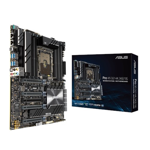 ASUS MB Pro WS C621-64L SAGE/10 G server/workstation motherboard LGA 3647 (Socket P) CEB Intel® C621