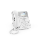 Snom D735 IP phone White Wired handset TFT